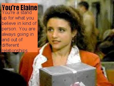You're Elaine
