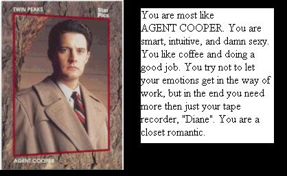 You are Agent Cooper